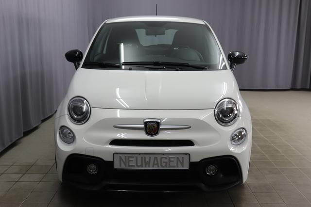 """Abarth 595 MY19-1.4 T-Jet 107 KW (145PS) MY19 ""268 Gara White Integral Sportsitze Stoff Schwarz ohne Aufpreis""7QC UconnectTM HD-NAV mit Europakarte und Radio mit 7"""" Touchscreen, AUX-IN, USB, Bluetooth®, DAB und UconnectTM LIVE1 8EW Apple Carplay / Android Auto 4AY 17""""Leichtmetallfelgen Design ""Touring"" 10-Y-Speichen Finish Silber 5HN Kit Estetico Schwarz 025 Klimaanlage 097 Nebelscheinwerfer"""