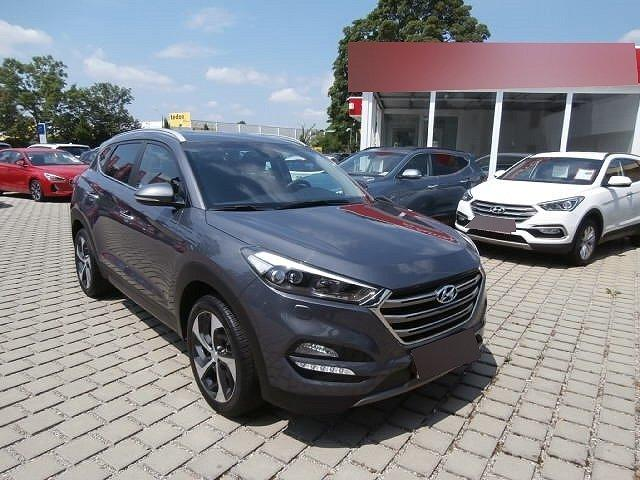 Hyundai Tucson - 1.6 GDi Premium +ALLRAD+NAVI+RÜCKFAHRKAMERA+LEDER+KLIMA+KLIMASITZE+PDC v+h+LICHTSENSOR