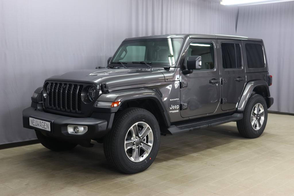2,0 ATX 265 MY21 Wrangler Unlimited SAHARA  4-Türer  		Granite Crystal Metallic PAU 5CD	Leder schwarz