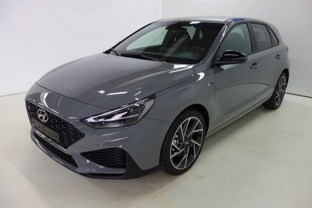 Hyundai i30 HATCHBACK - N Line Sie sparen 6.500 Euro 1.5 T-GDI 48V-Hybrid 6-Gang iMT 117 kW, Navigationssystem, Rückfahrkamera, Smart-Key, Spurfolgeassistent, e-Call (Notrufsystem), 18 Zoll Leichtmetallfelgen, Fernlichtassistent, LED-Abblendlicht uvm
