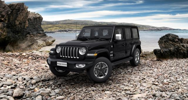 Jeep Wrangler - Unlimited Sahara JL Sie sparen 14.110,00 Euro 2.0 l T-GD DSG, MJ 21, Overland Paket, 3D Navigation, Differentialsperre (mechanisch) für die Hinterachse, Dachhimmel mit zusätzlicher Geräuschdämmung, Alarmanlage uvm