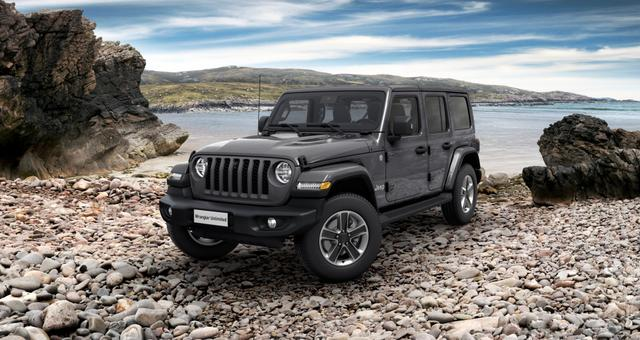 Jeep Wrangler - Unlimited Sahara JL Sie sparen 13.220,00 Euro 2.0 l T-GD DSG, MJ 21 3D Navigation, Differentialsperre (mechanisch) für die Hinterachse, Dachhimmel mit zusätzlicher Geräuschdämmung, Alarmanlage uvm