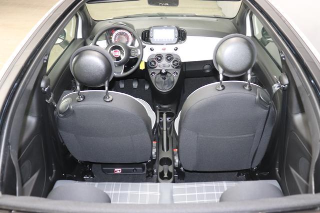 500C 1.0 GSE Hybrid Lounge Serie 8 51kW (69PS) 268 - Gelato Weiß 031 Stoff Prince of Wales Schwarz-Grau-Weiß/Ambiente Schwarz/Verdeck Rot 06P, 097, 5CA, 626, 7QC
