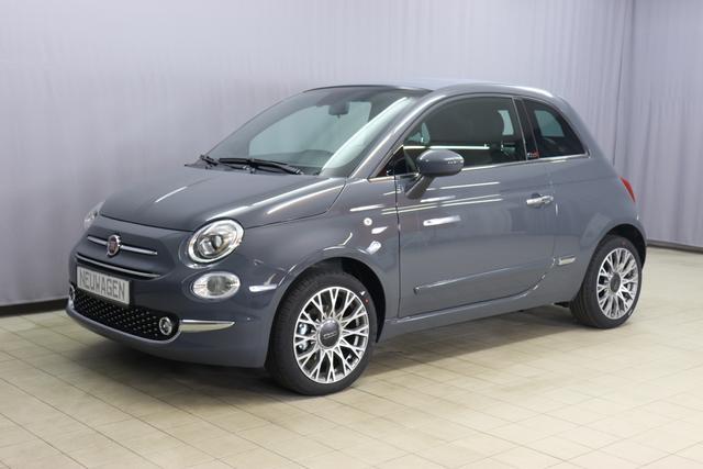 Fiat 500C - Star Sie sparen 5.565 Euro 1.0 GSE N3 BSG Hybrid 6GANG, Verdeckfarbe GRAU, Navigation, Radio DAB, Licht und Regensensor, PDC hinten, Nebelscheinwerfer, Seitenschutzleisten in Wagenfarbe inklusive Badges, Notrad uvm