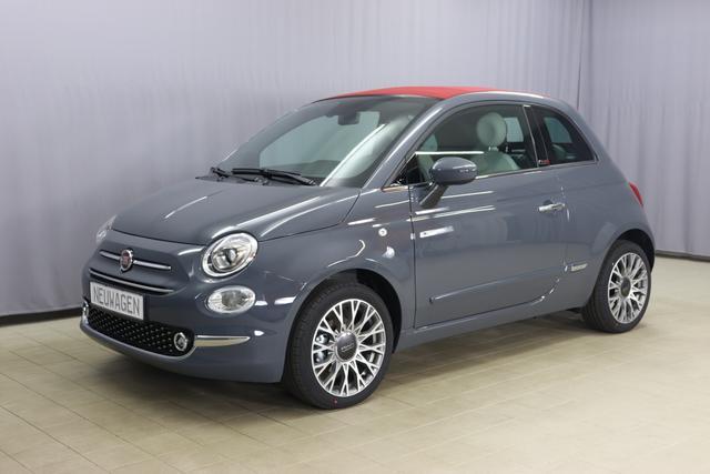 Fiat 500C - Star Sie sparen 5.565 Euro 1.0 GSE N3 BSG Hybrid 6GANG, Verdeckfarbe ROT, Navigation, Radio DAB, Licht und Regensensor, PDC hinten, Nebelscheinwerfer, Seitenschutzleisten in Wagenfarbe inklusive Badges, Notrad uvm