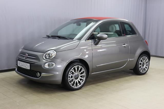Fiat 500C Hybrid Star Sie sparen 5.565 Euro 1.0 GSE N3 BSG 6GANG, Verdeckfarbe ROT, Navigation, Radio DAB, Licht und Regensensor, PDC hinten, Nebelscheinwerfer, Seitenschutzleisten in Wagenfarbe inklusive Badges, Notrad uvm