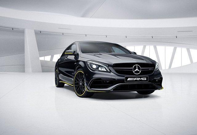 Mercedes-Benz CLA Shooting Brake AMG - 45 SB 4M Yellow Night Edition LED Pano N