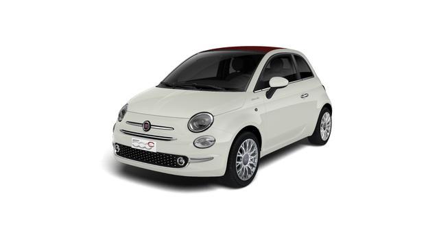 """Lagerfahrzeug Fiat 500C - Dolcevita UVP 21.280,00 Euro 1,0 Hybrid Verdeck Rot, Radio DAB, MJ 2021 , Apple CarPlay, 16""""-Leichtmetallfelgen, LED-Tagfahrlicht, Nebelscheinwerfer City Paket; Licht und Regensensor, PDC hinten uvm."""