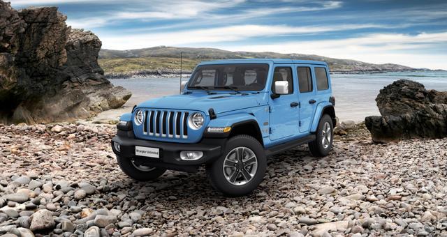 Jeep Wrangler - Unlimited Sahara JL Sie sparen 14.110,00 Euro 2.0 l T-GD DSG, MJ 21, Overland Paket, 3D Navigation, Differentialsperre (mechanisch) für die Hinterachse, Dachhimmel mit zusätzlicher Geräuschdämmung, Alarmanlage uvm