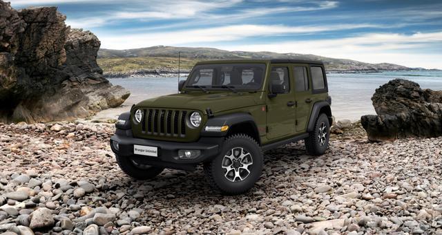 Vorlauffahrzeug Jeep Wrangler - Unlimited Rubicon UVP 68.020,00 Euro 2,0 ATX 265 MY21, Sicherheits-Paket, Technologie-Paket, Dachhimmel mit zusätzlicher Geräuschdämmung, Alarmanlage, Allwetter-Fußmatten, LED-Hauptscheinwerfer, uvm