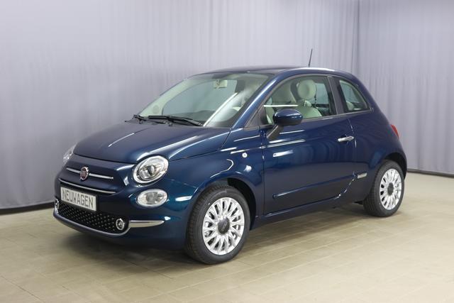 Fiat 500 - Lounge Sie sparen 5.330 Euro 1.0 GSE N3 BSG Hybrid 6GANG, COMFORT PAKET: Verchromte Seitenscheibenverkleidungen, verchromtes Auspuffende, Parksensoren hinten, Nebelscheinwerfer, Seitenschutzleisten in Wagenfarbe inklusive Badges, Radio DAB, Notrad uvm