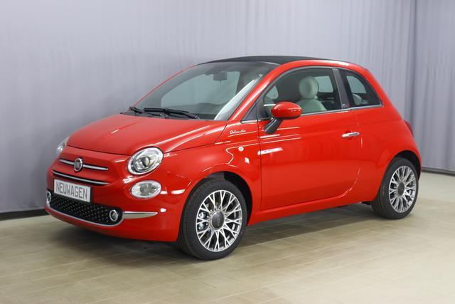 """Fiat 500C Hybrid Dolcevita Sie sparen 4.850,00 Euro 1,0 GSE, Veredeck Schwarz, Parksensoren hinten- Licht- und Regensensor - Nebelscheinwerfer Höhenverstellbarer Fahrersitz, 16""""-Leichtmetallfelgen uvm"""