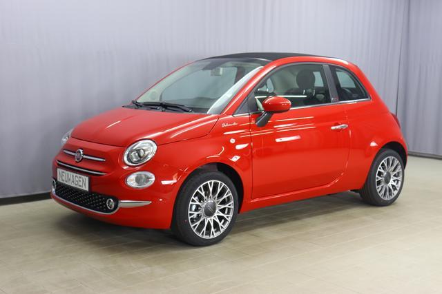 Fiat 500C - Dolcevita Sie sparen 5.900,00 Euro 1,0 Verdeck Schwarz, Uconnect™ , MJ 2021 Apple CarPlay, 16
