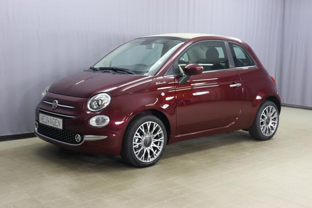 """Fiat 500C Hybrid Dolcevita Sie sparen 4.760 € 1,0 GSE 70PS, Verdeck Beige, Tech Paket; Parksensoren hinten, Licht und Regensensor, Außenspiegel elektrisch Verstellbar In Wagenfarbe,16""""-Leichtmetallfelgen 12 Doppelspeichen uvm"""