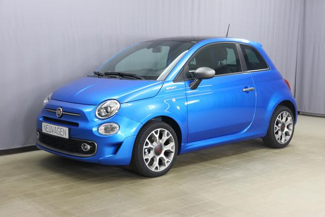 "Fiat 500 Sport Sie sparen 4.280 Euro, 1.0 GSE 51kW 69PS, Klimaautomatik, Sportlederlenkrad, 7"" HD Touchscreen, DAB Radio, Licht&Regensensor, PDC hinten, Nebelscheinwerfer, 16 Zoll Leichtmetallfelgen, uvm."