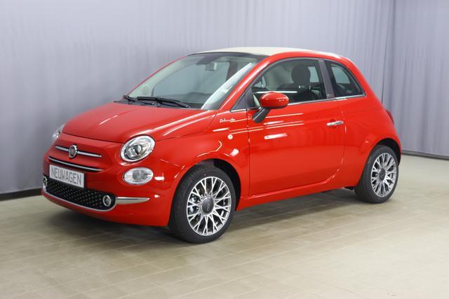 Fiat 500C - Dolcevita Sie sparen 6.000 € 1,0 GSE 70PS, Verdeck Beige, Tech Paket; Parksensoren hinten, Licht und Regensensor, Außenspiegel elektrisch Verstellbar In Wagenfarbe,16