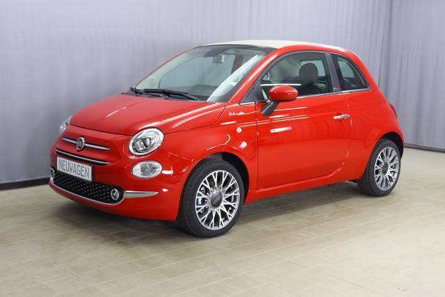 Fiat 500C - Dolcevita Sie sparen 6.030,00 Euro 1,0 Hybrid GSE, Veredeck Schwarz, Navigationssystem, Parksensoren hinten- Licht- und Regensensor - Nebelscheinwerfer Höhenverstellbarer Fahrersitz, 16