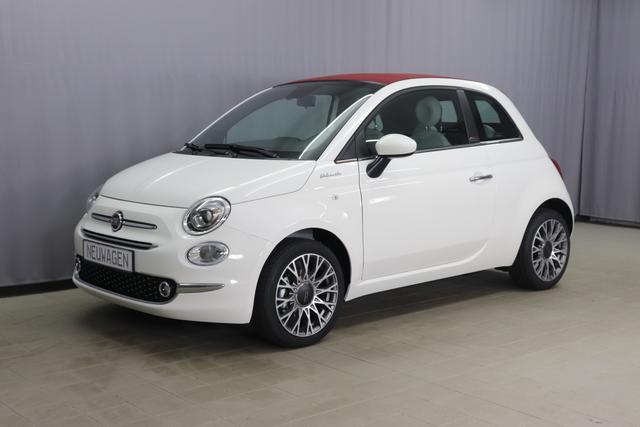 Fiat 500C - Dolcevita Sie sparen 6.220,00 Euro 1,0 Hybrid Verdeck Rot, Uconnect™ Navigationssystem, MJ 2021 , Apple CarPlay, 16