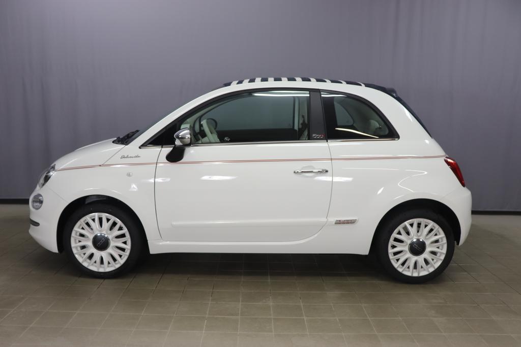 500C  DOLCEVITA 51kW (69PS) Modell 2021 -- Serie 9268 - Gelato Weiß580 - Leder