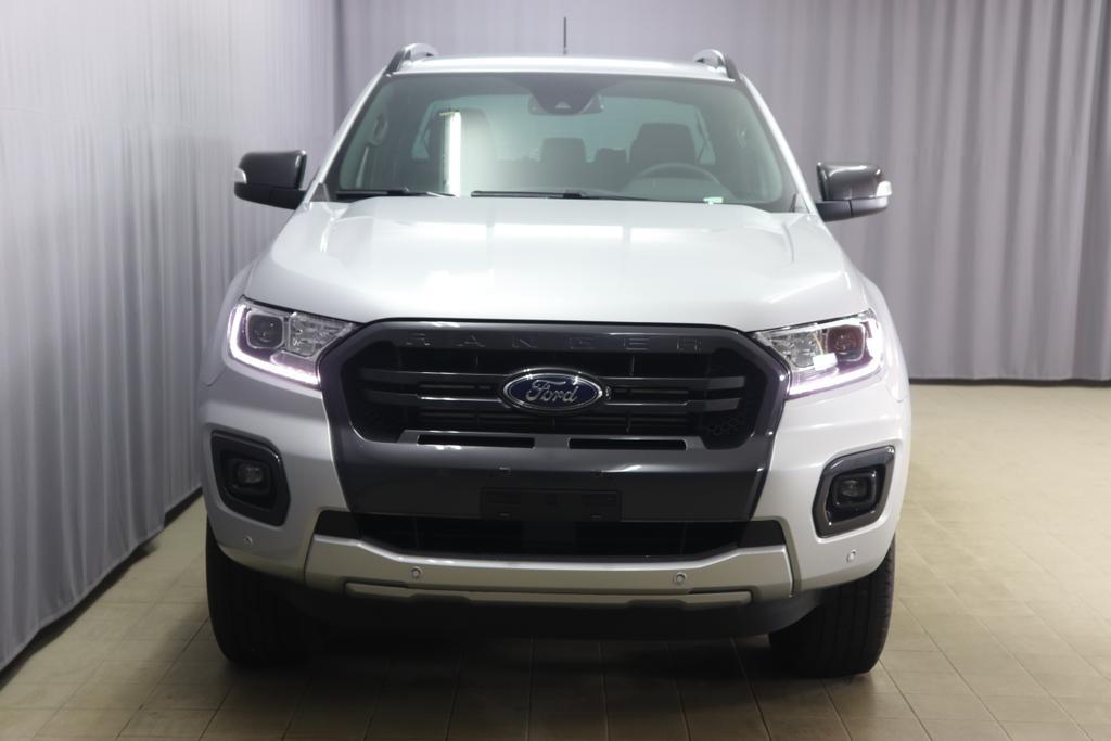 2,0 TDCi 157 KW 10Gang Automatik Ford Ranger Pick Up WildtrakPolar Silber Mette in Ebony - Sitzpolster: Journey Grain-Leder in Ebony