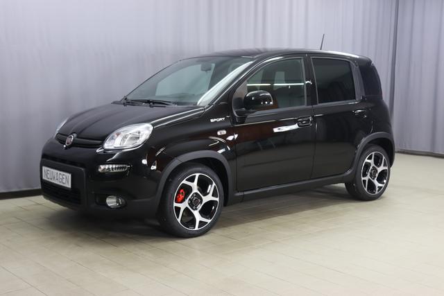 Fiat Panda - Sport 1.0 GSE Hybrid 51kw (70PS) Pandemonio-Paket- Rote Bremssättel- Getönte Fensterscheiben hinten, City-Paket- Parksensoren hinten- Außenspiegel, elektrisch verstell- und beheizbar, Bluetooth Freisprecheinrichtung Audiostreaming, Klimaanlage, Höhenverstel