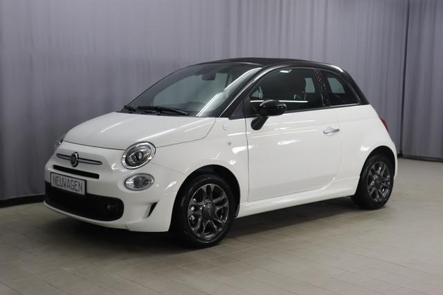 Fiat 500C Hybrid HEY GOOGLE Sie sparen 25% = 5.810 € 1,0 GSE 70PS, Verdeck Schwarz, Navigationssystem, Tech Paket; Parksensoren hinten, Licht und Regensensor, Außenspiegel, Elektrisch Verstell- Beheizbar In Wagenfarbe,
