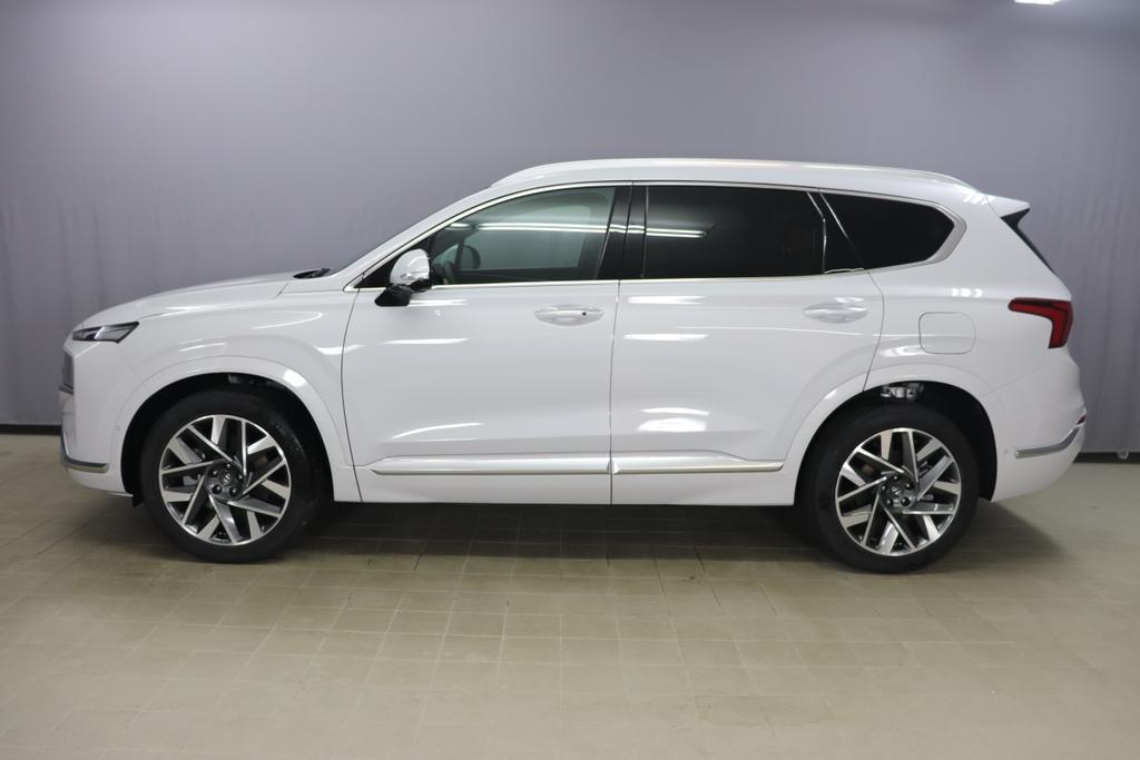 Hyundai Santa Fe 4WD Shine 7 Safety Sensation Luxury 2.2 CRDi 200 151kW DieselGlacier White Nappa Leder Schwarz & Camel