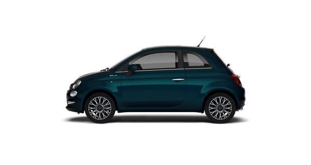 """Fiat 500 DOLCEVITA Sie sparen 3.970€ 1,0 GSE 70PS, Klimaautomatik, Tech Paket; Parksensoren hinten, Licht und Regensensor, Außenspiegel, Elektrisch Verstell- Beheizbar In Wagenfarbe, 16""""-Leichtmetallfelgen uvm"""