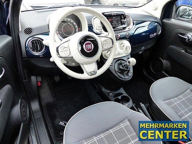 Fiat 500C Cabrio Lounge 1.2 8V Multif.Lenkrad Knieairbag RDC Klima Temp PDC AUX USB MP3