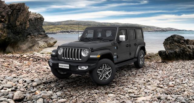 Jeep Wrangler - Unlimited Sahara Sie sparen 7.612,00 Euro 2,0 280KW MY21, Plug-In Hybrid, Overland Paket mit Dual Top, Dachhimmel zusätzlicher Geräuschdämmung, Alarmanlage, Sicherheitspaket Geschwindigkeitsregelanlage adaptiv, Totwinkel Assistent hinterer Querbewegungserkennu