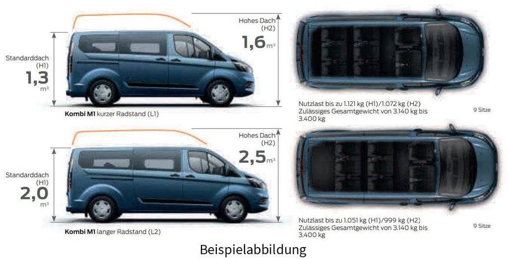 Ford Transit Custom Kombi 2 0 Tdci 130 L1 320 Trend 9 Sitze Ahk
