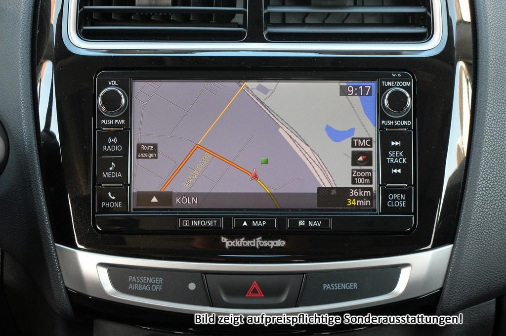 mitsubishi asx top :neu euro6d-temp+ leder+ panorama+ handy
