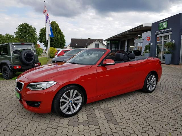 BMW 2er - 220i Cabriolet 2.0 135 KW-Bi-Xenon-Navi Connected Drive-Klimaautomatik-PDC-ALU 17