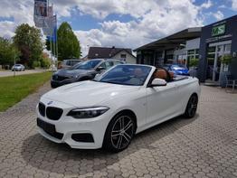 """BMW 2er      218 i M Sport Cabrio - NAVIGATION BUSINESS-LED-ALU 18"""" BICOLOR-TEMPOMAT-PDC VORNE HINTEN-LEDER DAKOTA-KLIMAAUTOMATIK-SITZHEIZUNG-NSW"""